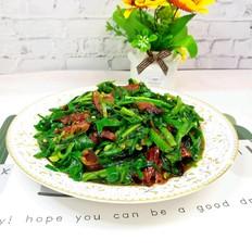 韭菜炒广式小腊肠-红配绿 很美味
