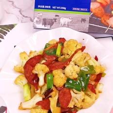 牛肉腸炒菜花的做法大全