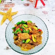 泡椒辣炒魔芋豆腐