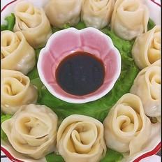 七夕玫瑰花饺子