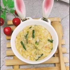 鲜虾韭菜杂粮粥的做法大全