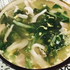 青菜蘑菇鸡蛋汤