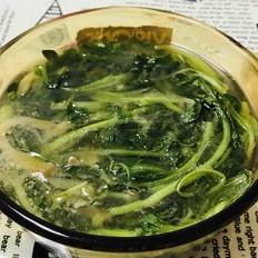 小青菜榨菜肉丝汤