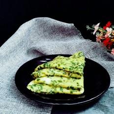 山鸡蛋韭菜软饼