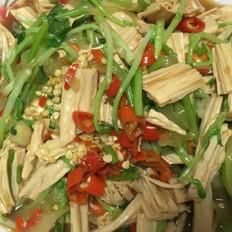 豆苗拌腐竹