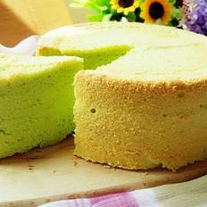 菠菜戚风蛋糕的做法