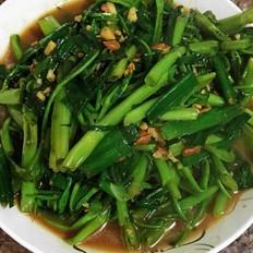黄豆酱炒空心菜
