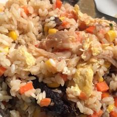 羊肉腊肠蒸米饭