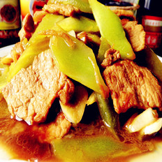 莴苣炒肉片