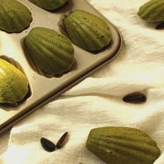 抹茶瓜子仁玛德琳(植物油版)