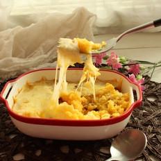 芝士焗红薯一道利于孩子肠胃的甜品