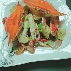 《梭子蟹炒年糕》