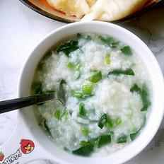 菠菜瘦肉粥