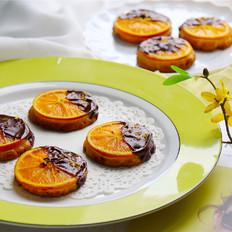 香甜~滑而不腻的巧克力橙子饼干