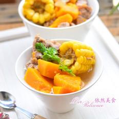 玉米南瓜排骨汤