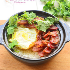懒人米饭--砂锅腊肠焖饭