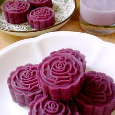 核桃奶香紫薯糕