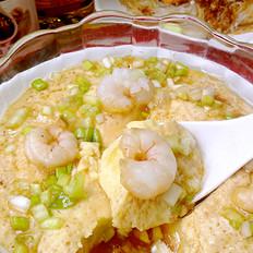 虾球蒸蛋羮的做法