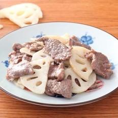 牛肉炒藕片