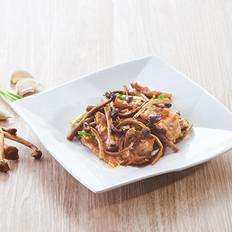 茶树菇炒猪颈肉的做法