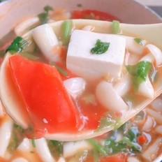 番茄豆腐菌菇汤
