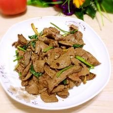 猪肝炒香菜
