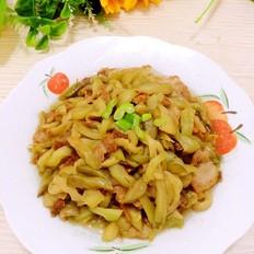 肉炒茄丝榨菜