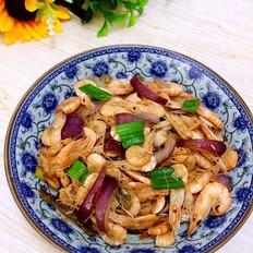 洋葱炒河虾
