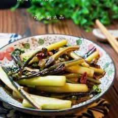 糖醋红油菜苔