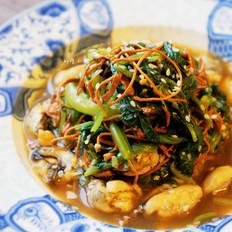 凉拌贻贝菠菜