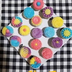 彩色冰皮花样月饼