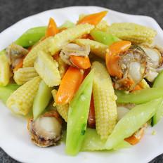 鲜贝玉米笋
