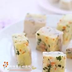 宝宝辅食-肉饼蛋蒸时蔬饭(10+)