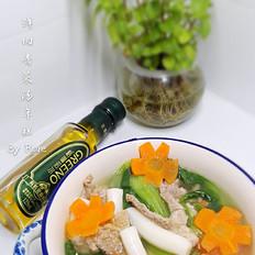 鲜肉青菜汤年糕