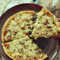 鲜虾披萨的做法