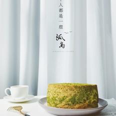 抹茶云石糯米戚风蛋糕