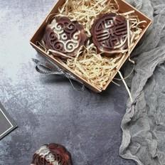 巧克力桃山皮月饼