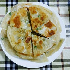 饺子皮葱饼