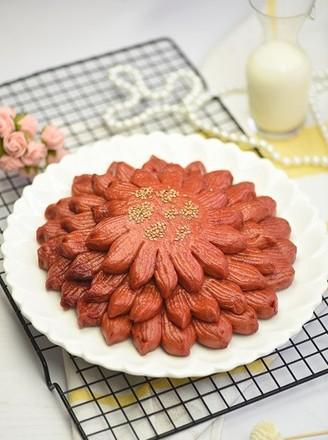 甜菜汁莲花馍的做法