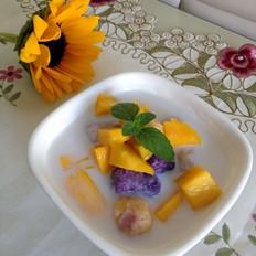 椰香芋圆芒果捞
