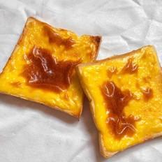 懒人版岩烧乳酪片快速消耗吐司片奶酪