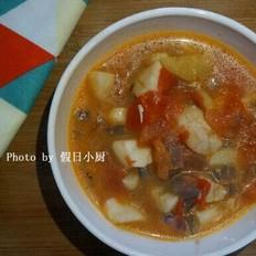 番茄银鳕鱼汤