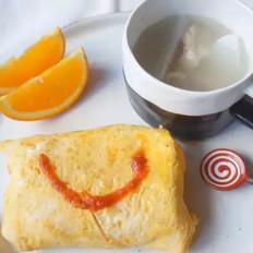 宝宝营养餐之茄汁蛋包饭