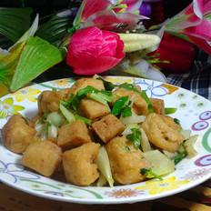 油豆腐炒芹菜