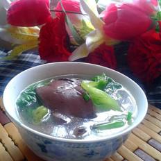 生菜猪血汤