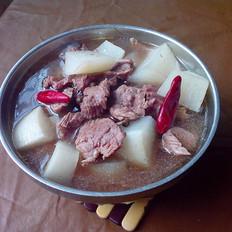 白萝卜炖牛肉