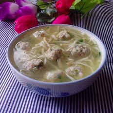 金针菇肉丸汤