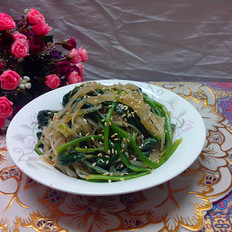 菠菜拌米粉