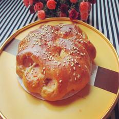 火腿花型面包