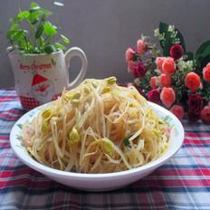 黄豆芽拌米粉